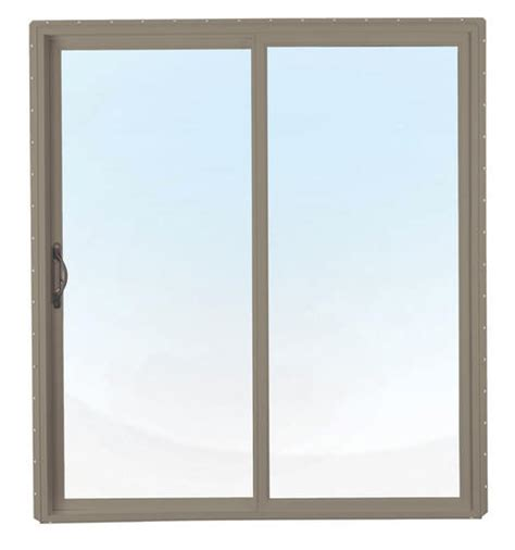 Crestline 6 X 6 8 Quot Tan Vinyl Sliding Patio Door Quot Lo E Crestline Patio Doors