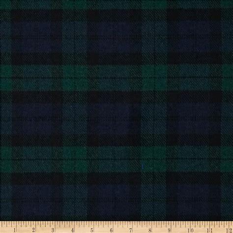 wool fabric washable wool plaid blue green discount designer fabric