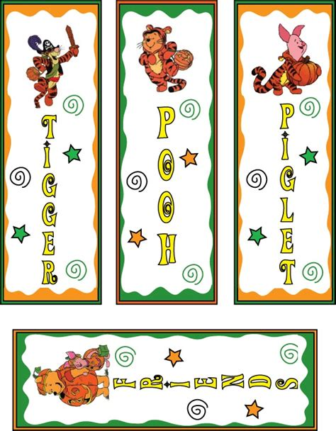 printable turkey bookmarks pooh and tiger halloween bookmarks printable bookmarks