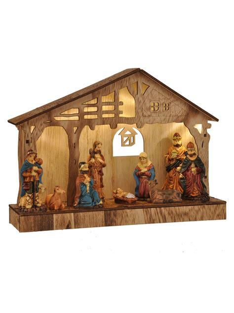 nativity scene light up decorations christmas xmas classic