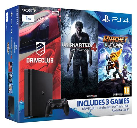 Ps4 Ratchet Clank Big Planet 3 Drive Club Pack R3 k 248 b playstation 4 slim console 1tb mega pack bundle