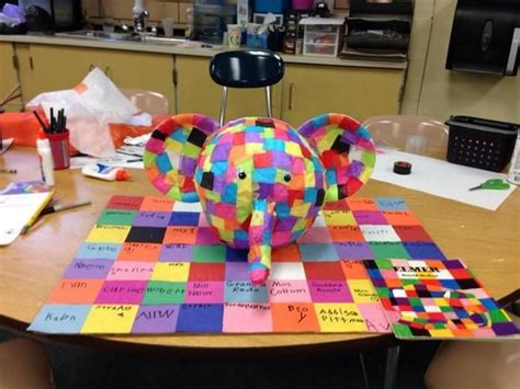 Elma The Patchwork Elephant - elmer the patchwork elephant pumpkin myelmer storybook