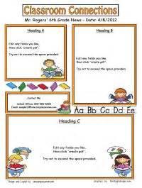 newsletter template creator 1000 ideas about preschool newsletter templates on