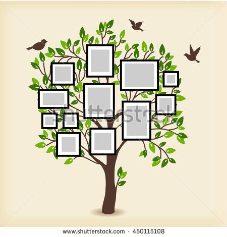Memories Tree Picture Frames Insert Your Stock Vector 450115108 Shutterstock Tree Photo Collage Template