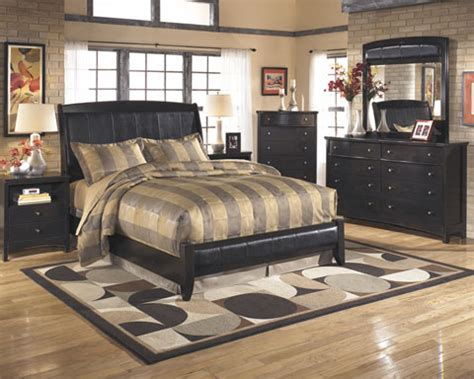 leather queen bedroom set harmony b208 queen bedroom set by ashley furniture ebay