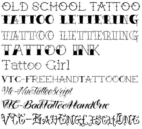 popular tattoo fonts fonts for and font styles