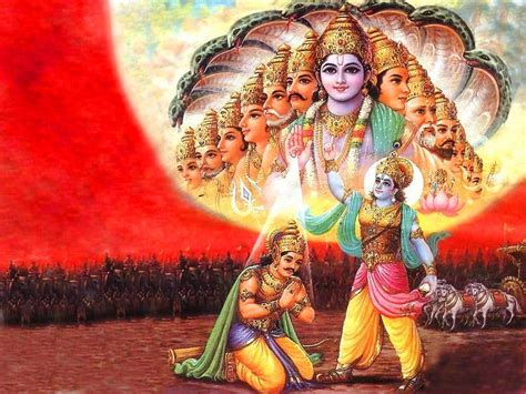 hd wallpaper for pc lord krishna viraat roop lord krishna arjun hd wallpapers lord