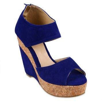 royal blue wedge sandals zanea betsy wedge sandals royal blue products