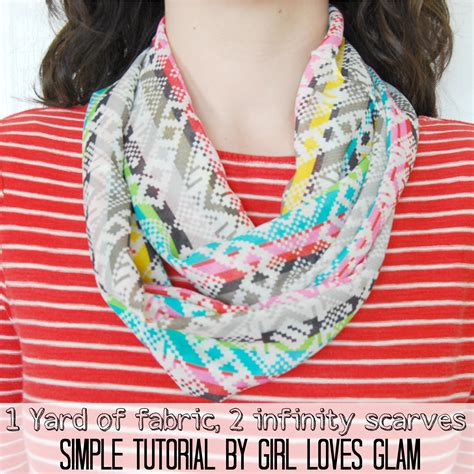 how to make a simple infinity scarf glam