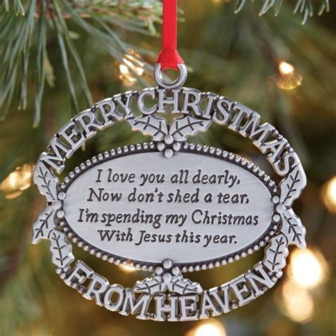 merry christmas from heaven 174 pewter oval ornament with