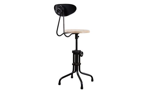 district eight adjustable stool with backrest and