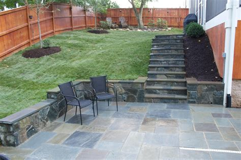 stone backyard patio stone patios patio wall and patio on pinterest