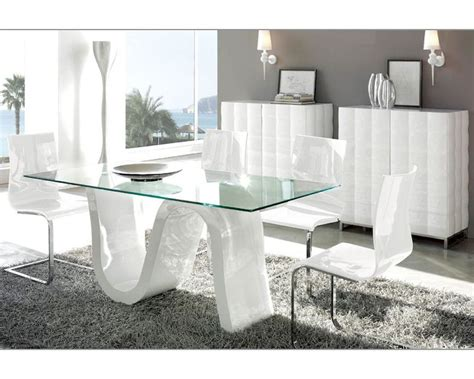 modern dining room set modern dining room set made in spain wave 3323wv