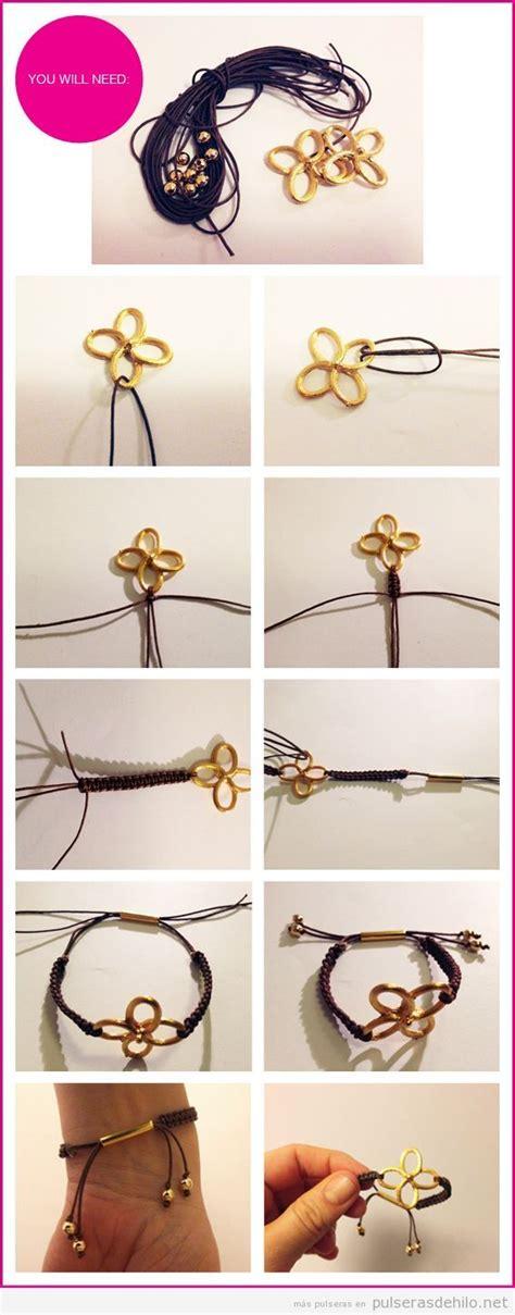 pulsera de nudos paso a paso tutorial paso a paso pulsera con cuerdas de cuero y nudos