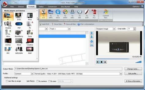 format video editor vsdc free yet another feature rich video converter for