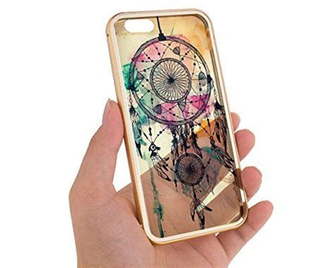 gold iphone 6 case dreamcatcher feathers cute hipster