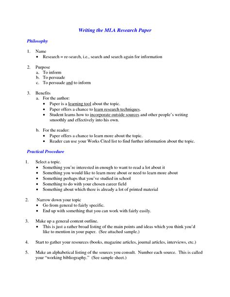 mla essay formatting format outline english of research paper