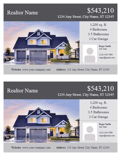 Real Estate Flyer Template For Word Microsoft Real Estate Templates