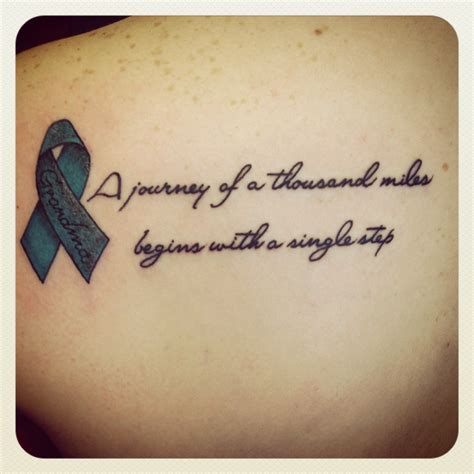 tattoo designs words ovarian cancer ribbon quote ideas