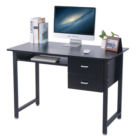 Small Computer Desks With Drawers Small Computer Desks With Drawers Carver 2017 Compact Computer Desk With 2 Drawers Home Office