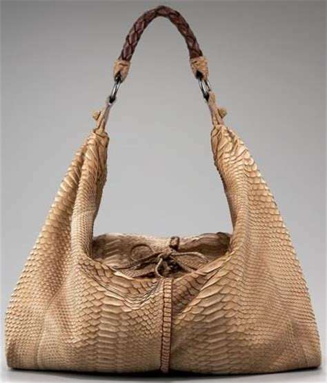 Handbag Find Of The Day Carlos Falchi by Carlos Falchi Sueded Python Slouch Hobo Purseblog