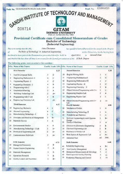 Bcom Mba Nit Warangal Linkedin by Provisional Certificate