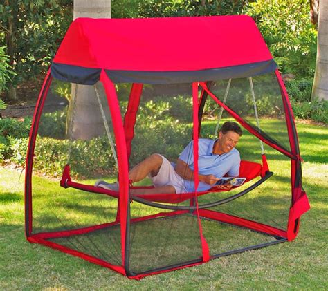 Patio Swing Springs Hammock With Mosquito Net Tent