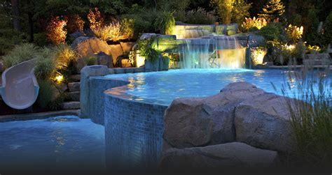 pool waterfalls ideas 2013 best custom swimming pools cipriano landscape design nj