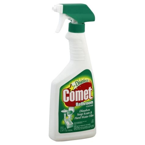 How To Clean A Bathtub With Comet comet disinfecting bathroom cleaner spray