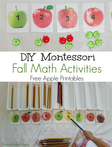 kindergarten activities without materials diy fall montessori math activities free printables