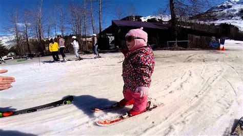 1 year alaskan baby skiing at alyeska in girdwood - 1 Year Skiing