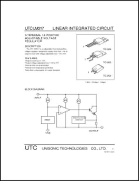 transistor lm317 datasheet lm317 datasheet 1a positive adjustable voltage regulator from unisonic technologies co