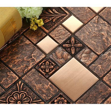 backsplash ideas porcelain or ceramic tile hat brushed stainless steel tile sheets kitchen backsplash