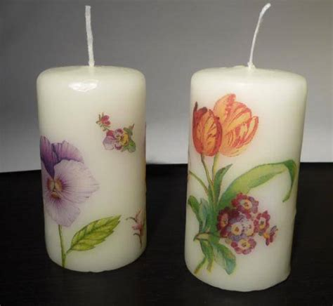 come decorare le candele candele fai da te con i tovaglioli di carta