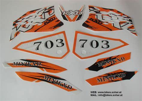 Pocket Bike Aufkleber Shop by Aufkleber Set Sticker 49cc Dirt Mini Bike Kxd 703 Croxx