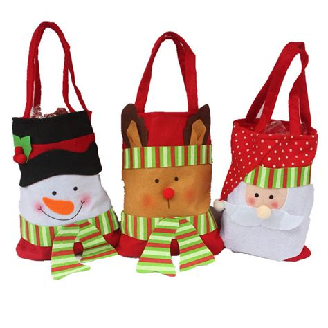 cute santa claus gift bags merry christmas kids candy