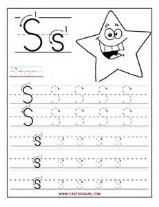 printable letter s tracing worksheets for preschool