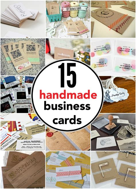 Handmade Visiting Cards - business cards you can make yourself reasons to skip
