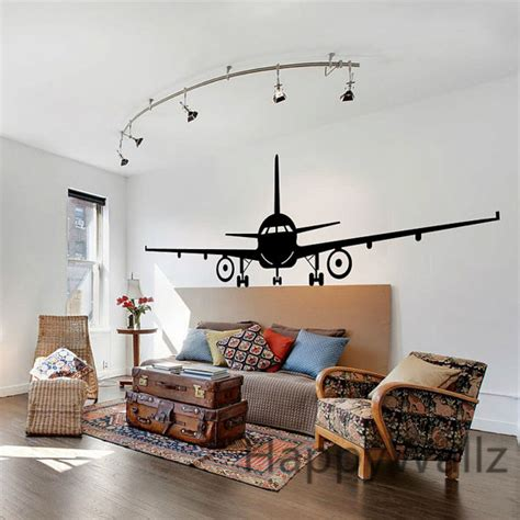 3d airplane wall stickers muraux wall decor airplane wall