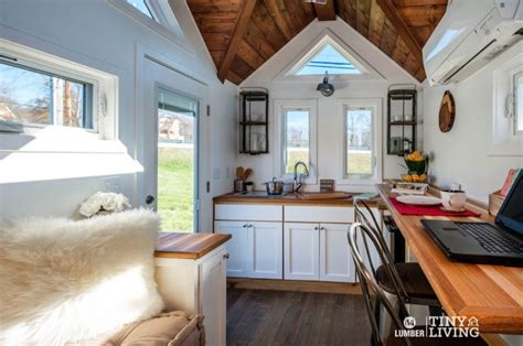 countryside tiny house  cathedral ceilings