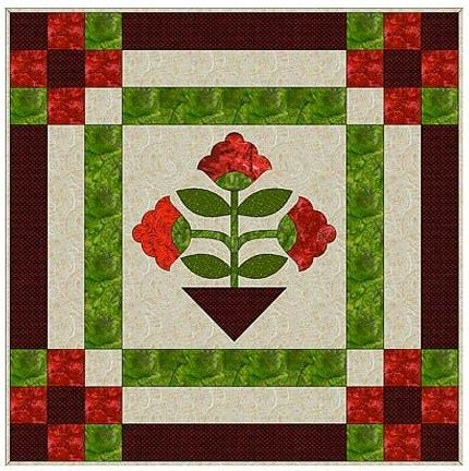 Floral Applique Quilt Patterns by Patternpile Sewing And Quilting Patterns For