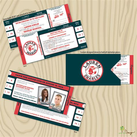 baseball themed wedding invitations sox baseball