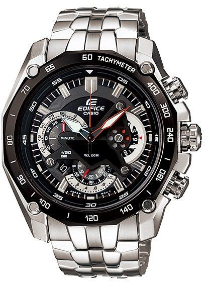 Casio Edifice Ef550 550 Black Stainless Steel Solid casio s edifice black multi function stainless