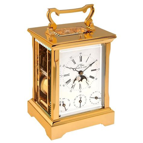 L'Epee Anglaise Gold plated Carriage Clock 64.67410/01