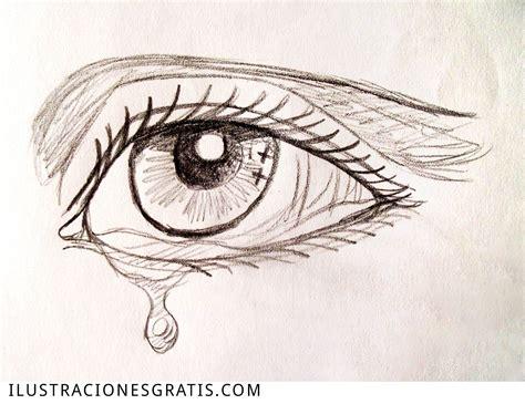 imagenes de ojos llorando a lapiz ilustraci 243 n gratis dibujo a l 225 piz de un ojo con una