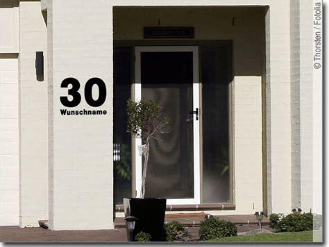 Hausnummer Aufkleber by Hausnummer Mit Wunschname