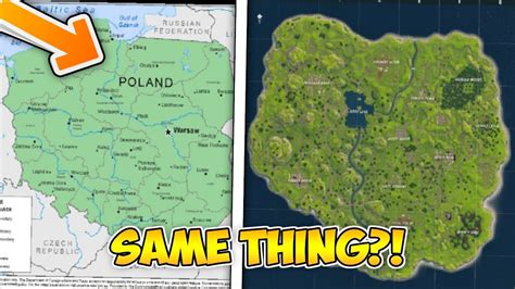fortnite and poland the fortnite map is actually poland fortnite map vs