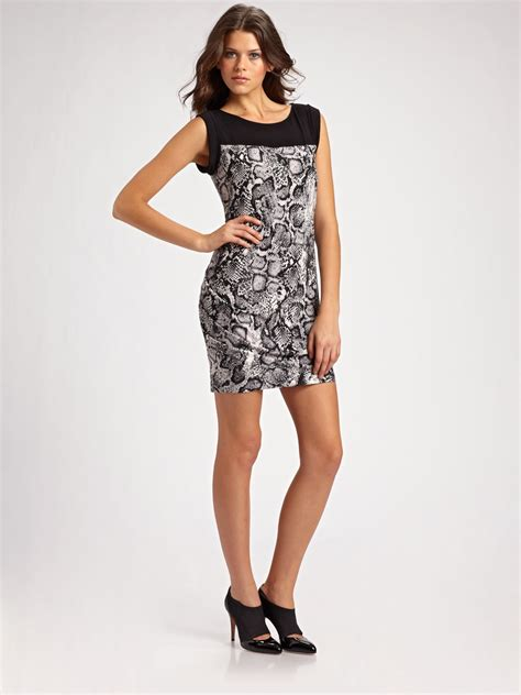 Dress Cewek Delia Black bcbgmaxazria delia pleated dress in gray black lyst
