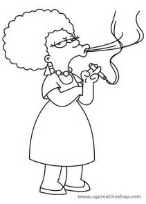 Patty And Selma Simpsons Coloring Pages Sketch Page sketch template