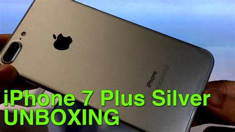 iphone 7 plus silver unboxing